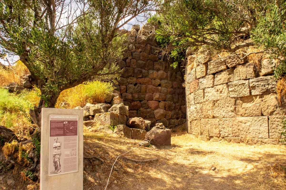 Το μέρος της Μήλου όπου βρέθηκε το άγαλμα της Αφροδίτης