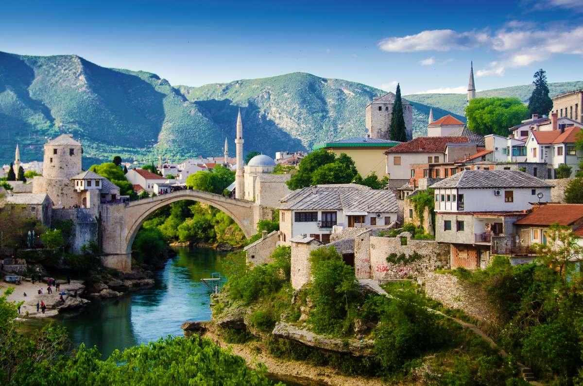Μόσταρ, Βοσνία και Ερζεγοβίνη, πανοραμική εικόνα