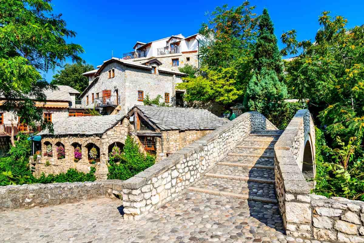 Μόσταρ, Βοσνία και Ερζεγοβίνη - πέτρινα σπίτια