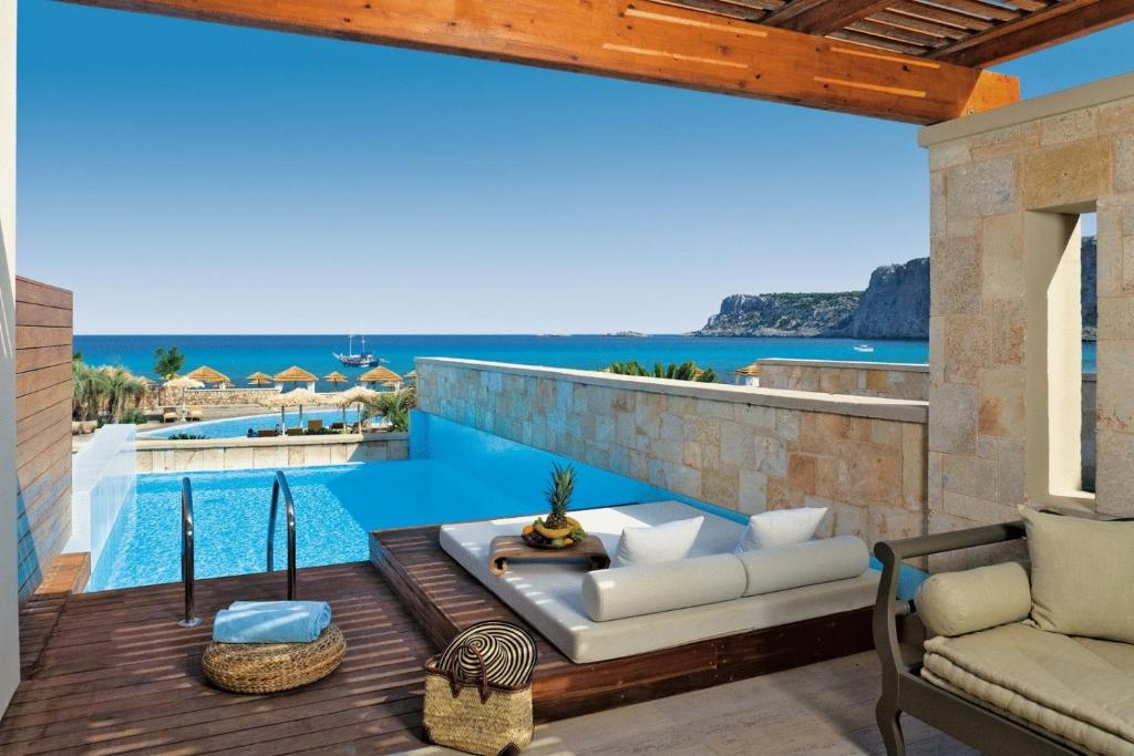 Aquagrand Exclusive Deluxe Resort Lindos σουίτα με ιδιωτική πισίνα