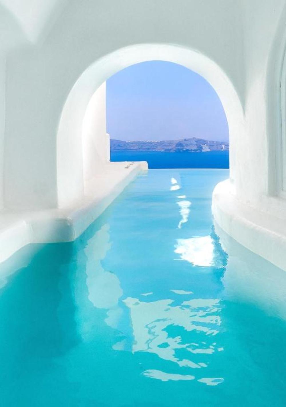 Dana Villas Σαντορίνη πισίνα & θέα
