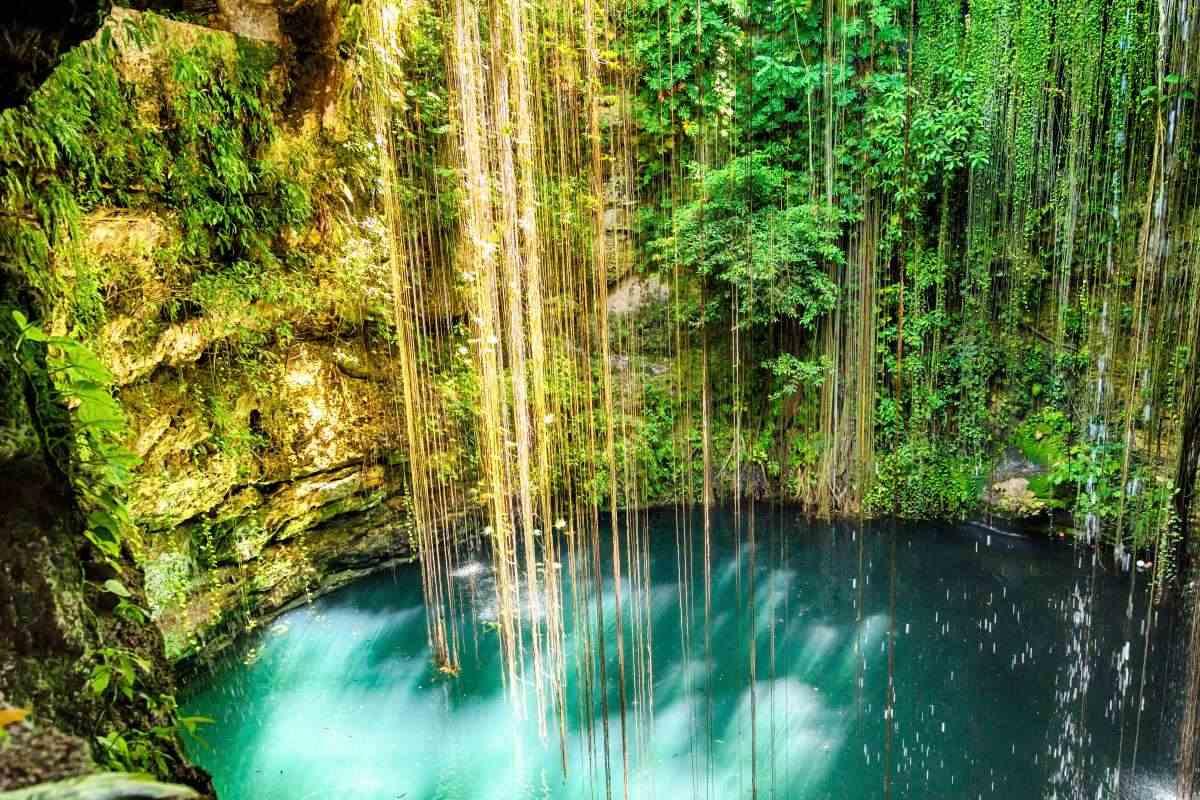Ik Kil cenote, Yucatán, Μεξικό