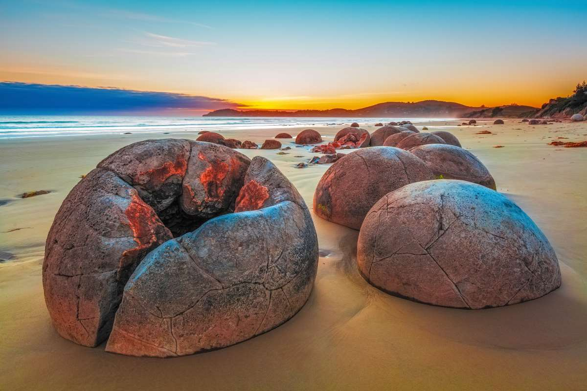 The Moeraki Boulders, Νέα Ζηλανδία
