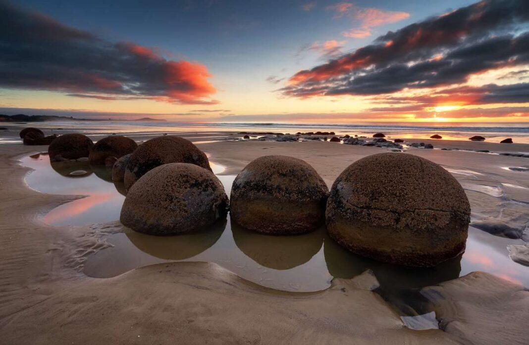 Moeraki Boulders Νέα Ζηλανδία